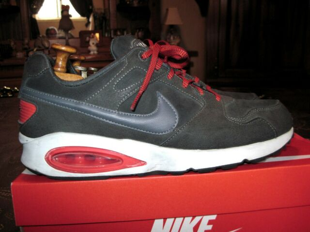 07223f557d6a NIKE Air Max Coliseum Racer Leather 543215-006 Colors Dark Gray & Red Size  10
