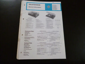 Original Service Manual Telefunken W240hifi W248 W 268 Tw 268 Hifi Tv, Video & Audio