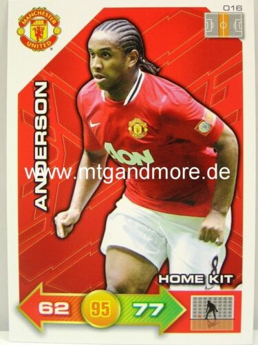 #016 Anderson-Home Kit Adrenalyn XL manchester united 11//12