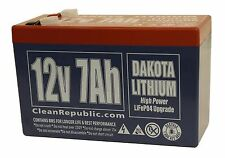 12 V 7 Ah LiFEPO4 Rechargeable battery - Dakota Lithium