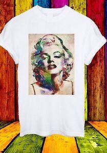 MARILYN-MONROE-attrice-americana-BIONDA-famosi-Uomini-Donne-Unisex-T-shirt-658