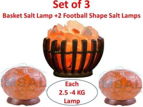 Naturel de l/'Himalaya Rose Rock Sel Lampe Avec Ampoule /& UK plug forme différente