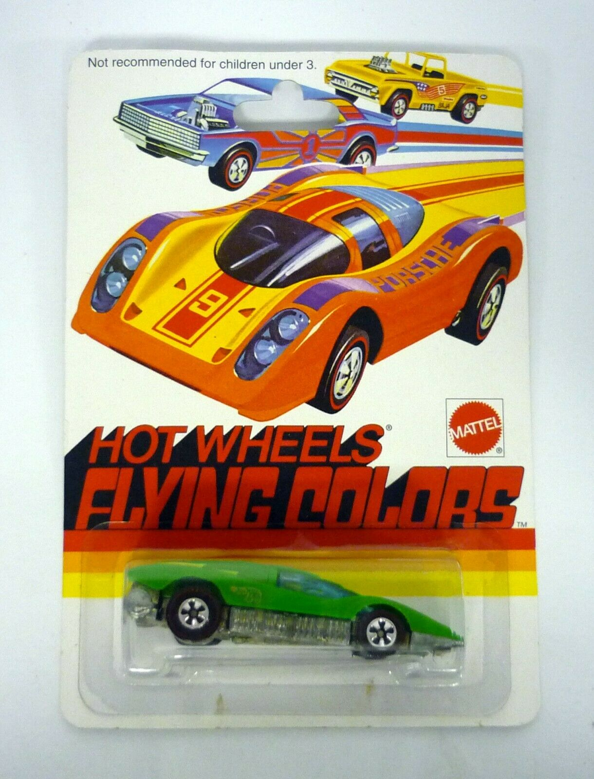 HOT WHEELS 1975 LARGE CHARGE Flying colors Die-Cast Car MOC COMPLETE 1997