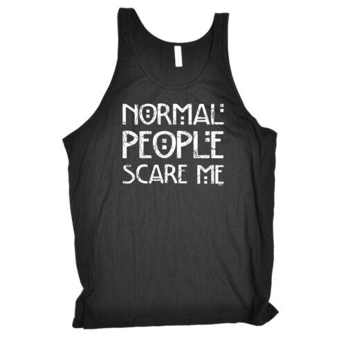 Funny Novelty Vest Singlet Top Normal People Scare Me