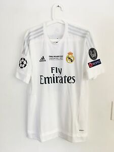 Details about KROOS, 2015-16 REAL MADRID UCL FINAL MATCH UN WORN SHIRT WITH COA