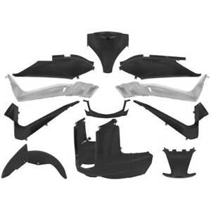 Set-11-Piezas-Carenado-Negro-Satinado-MBK-125-Skycruiser-ABS-2006-2012