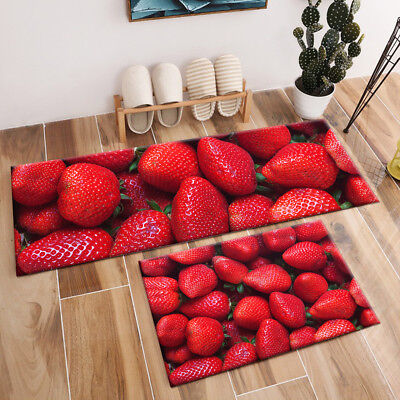 Fresh Red Strawberry Pattern Area Rugs