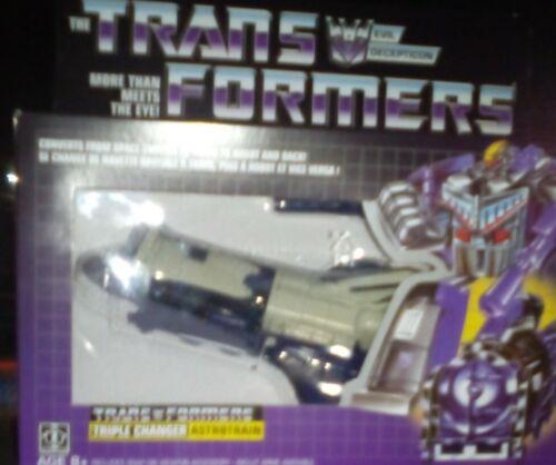 Transformers G1 réédition Triple changeurs Astrotrain WALMART EXCLUSIVE ~ US Vendeur