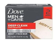 Dove Men + Care Body and Face Bars 2 Pack Deep Clean 8.50 oz (Pack of 2)