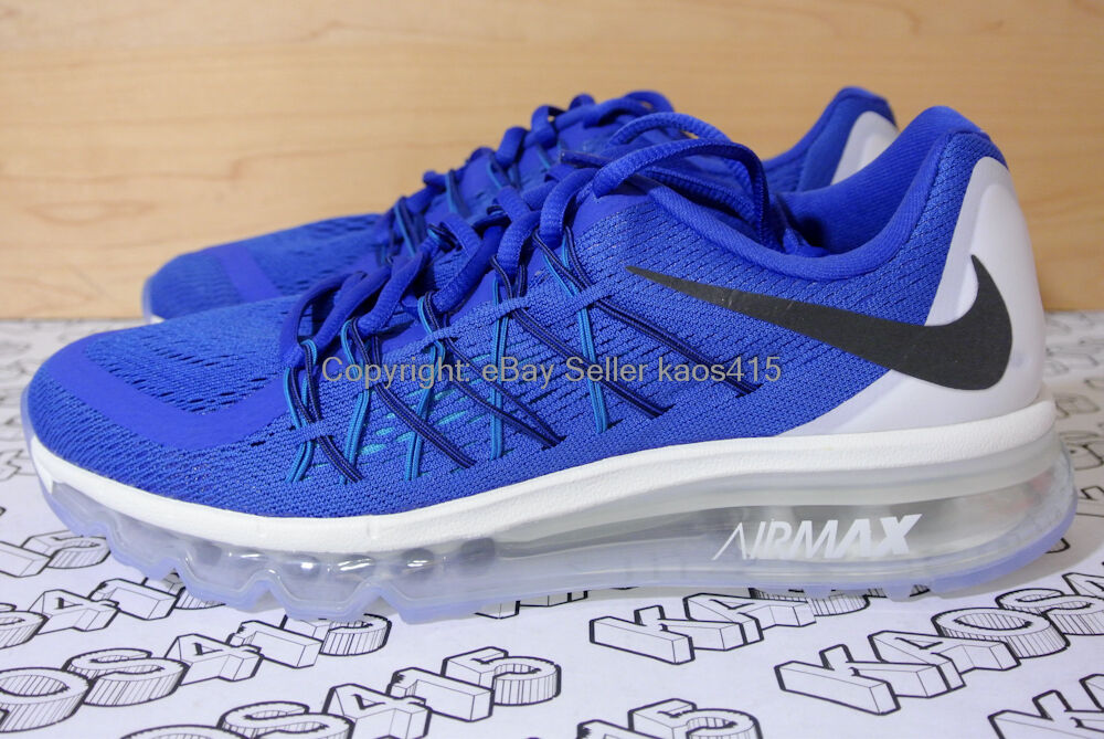 Nike Air Max 2015 Azul / Blanco 705457-401 flyknit racer GS Youth 5Y, Mujeres 6.5