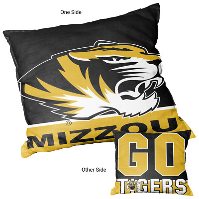 University Of Missouri Tigers Go Tigers Square Couch Pillow 848267074736 Ebay