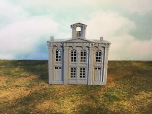 City-Hall-Building-Courthouse-N-Scale-1-160-Hollow-2pc-EASY-to-Assemble