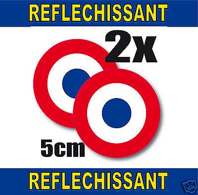Cocarde Retro Reflechissante France 2 Stickers Adhésifs Rond 5cm Lot De 2 Complete Reeks Artikelen