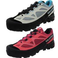 Salomon X Alp Women's Trekking Shoes Gray Pink Hiking Shoes Approach Boots