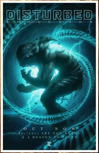 FREE Metal Hard Rock Poster! DISTURBED Evolution 2018 Ltd Ed New RARE Poster