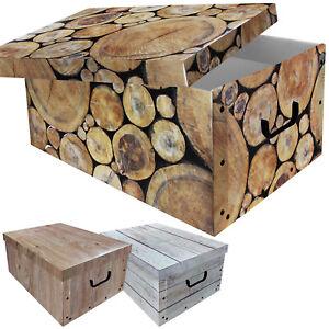 3 st ck aufbewahrungsbox mit deckel aufbewahrung kiste truhe karton holz design ebay