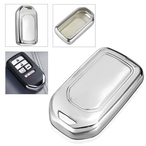 TPU Silver Remote Smart Key Fob Case Shell Cover Fit for Honda Accord Civic CR-V