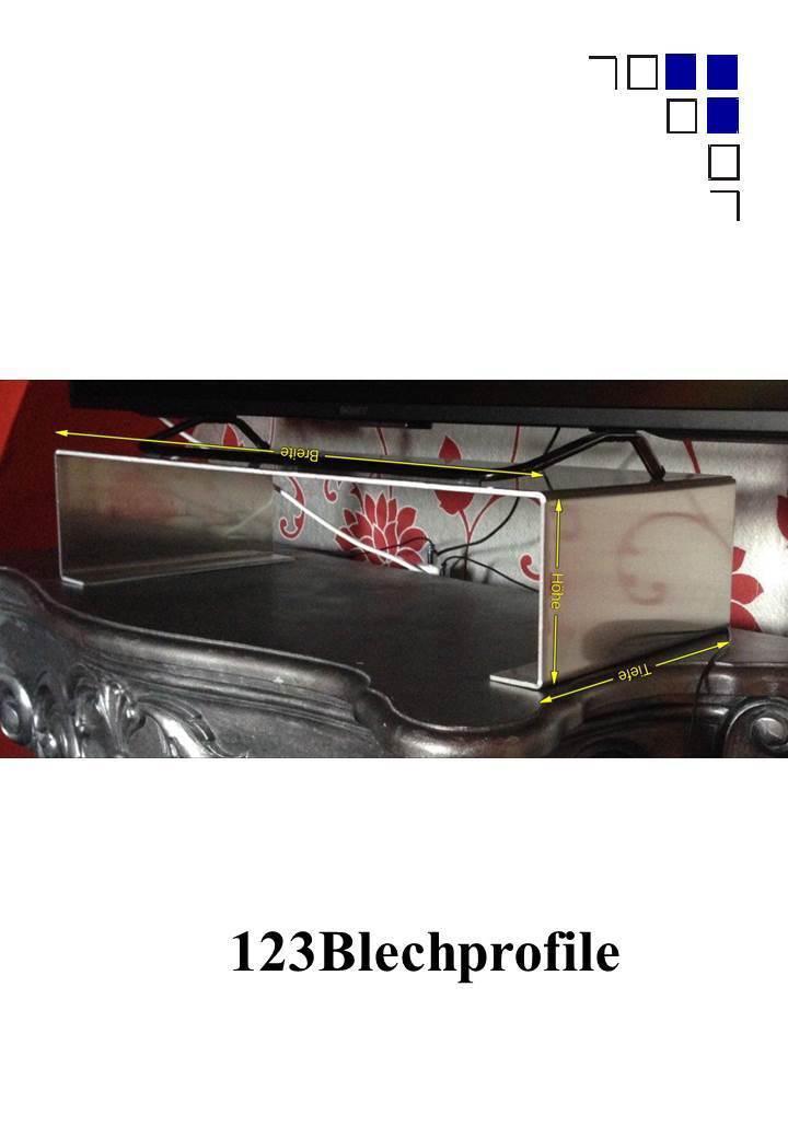 Aufsatz 60x14x25cm Erhöhung TV Monitor aus Aluminium viele Größen im Shop