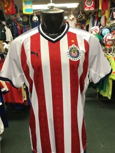 on sale f1204 57fa6 Details about Puma Men's 17/18 Chivas Home Stadium Jersey (Red/White) Size  XXL