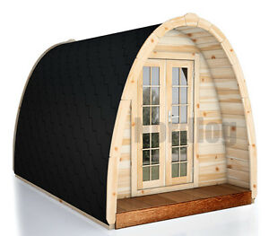 nordlog camping pod 2 4 x 4 8m haus campinghaus ferienhaus gartenhaus holz ebay. Black Bedroom Furniture Sets. Home Design Ideas