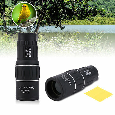 16 x 52 Dual Focus Zoom Optic Lens Armoring Monocular Telescope Outdoor Travel#A