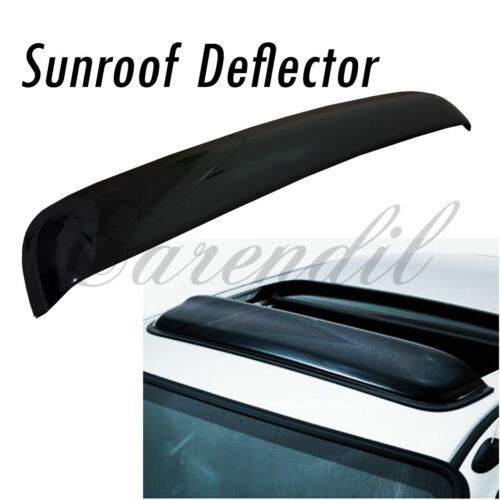 38 Inch 980mm SunRoof Moon Deflector Visor Smoke Black #Pt1 JDM Rain Wind Guard