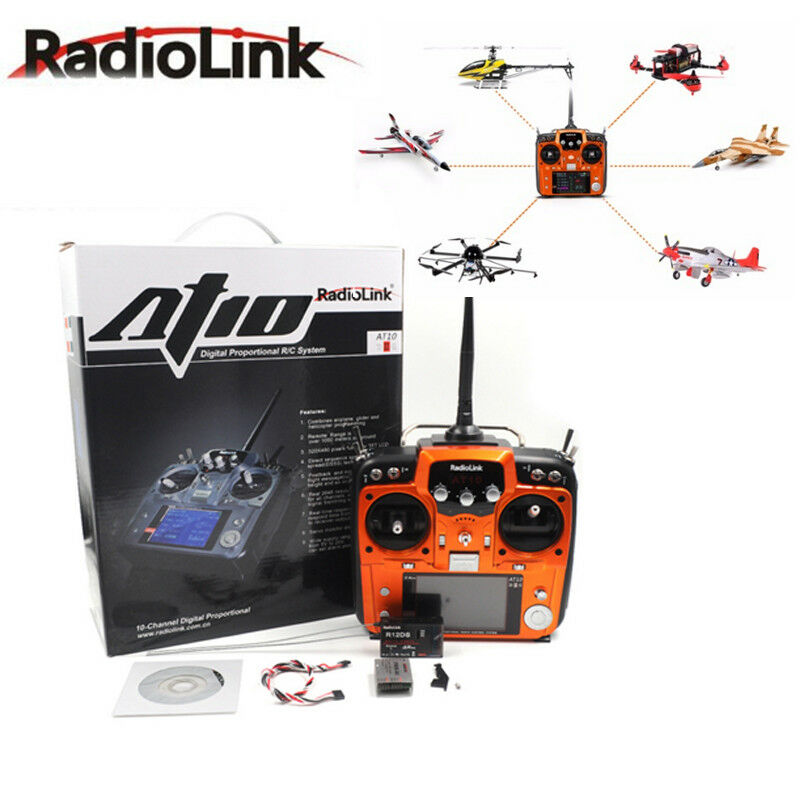 Radiolink AT10II 2.4G 12CH  Transmitter with R12DS Receiver For RC fpv drone  prodotti creativi