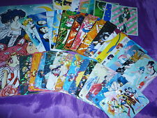 LOT SAILOR MOON OLD / NEW USED COLLECTION STATIONARY STICKER CARD PRISM , ETC...