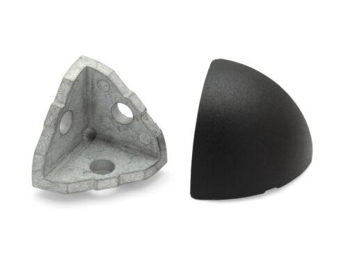 Eckverbinder 40 I-Typ Nut 8 inkl Abdeckkappe rund