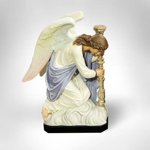 "CHURCH ANGELS Catholic GORGEOUS KNEELING ADORING ANGELS 35"" STATUES"