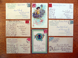 FIJI-Delightful-Bunch-of-Used-Postcards-16-To-Australia-NEW-LOWER-PRICE-FP2878