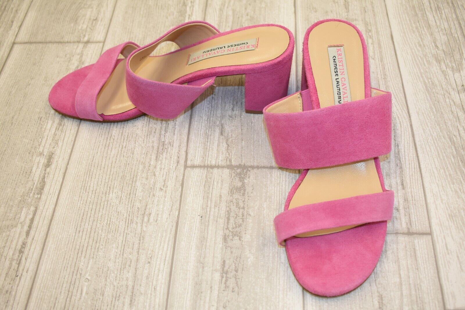 Kristin Cavallari Lakeview Suede Slide Sandals, Women's Size 7, Fuchsia