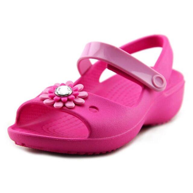 42ef5a8e1fa08 New CROCS Keeley Mini Wedge Peep Toe Sandal kids girl s size 5 (M) Toddler