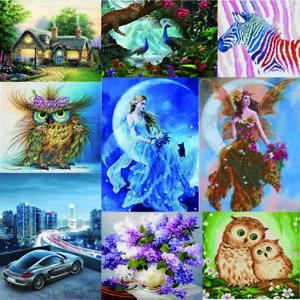 DIY-5D-Diamond-Painting-Flower-Godness-Embroidery-Cross-Stitch-Home-Decor-Animal