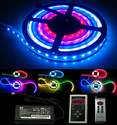 5/10/20/30M TM1812 IP67 5050 RGB Magic Dream Color 300 LED Strip & 133 Change RF