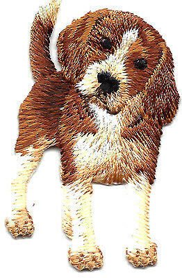 DOGS - BEAGLE PUPPY - PETS- ANIMALS - Iron On Embroidered Applique Patch