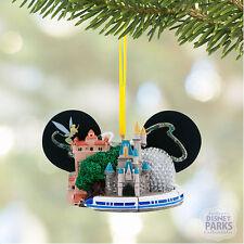Authetic Disney Four Parks Walt Disney World Ear Hat Ornament with Tinker Bell