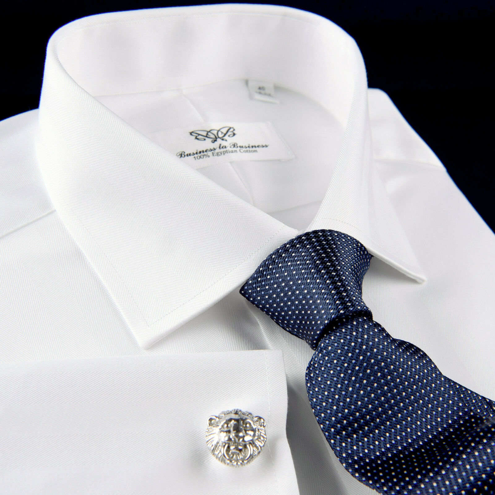 Weiß Twill Formal Geschäft Dress Shirt Corporate Boss Egyptian Cotton La Plata
