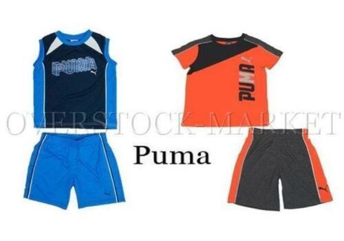 COLORS,SIZES BOYS PUMA 2 PIECE SPRING//SUMMER SHORT SETS NEW VARIETY STYLES