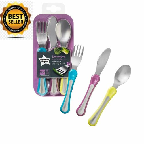 First Grown Up Baby Toddler Cutlery Set Variable Colours Soft Grip