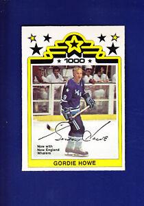 Gordie Howe 1977-78 O-PEE-CHEE OPC WHA Hockey #1 (NM+)(MC) New England Whalers