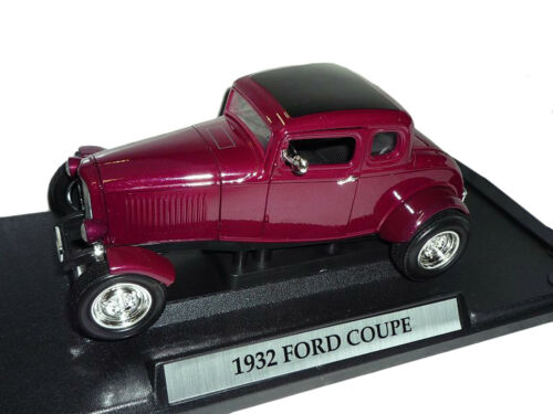 FORD Five-window 1932 PURPLE VIOLA COUPE 1//18 MotorMax modello auto o con...