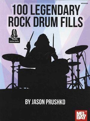 100 Legendary Rock Drum Fills Sheet Music Book/audio Drumset Same Day Dispatch Elegante Verschijning