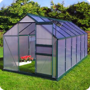 gew chshaus mit fundament gartenhaus fr hbeet aluminium treibhaus tomatenhaus ebay. Black Bedroom Furniture Sets. Home Design Ideas