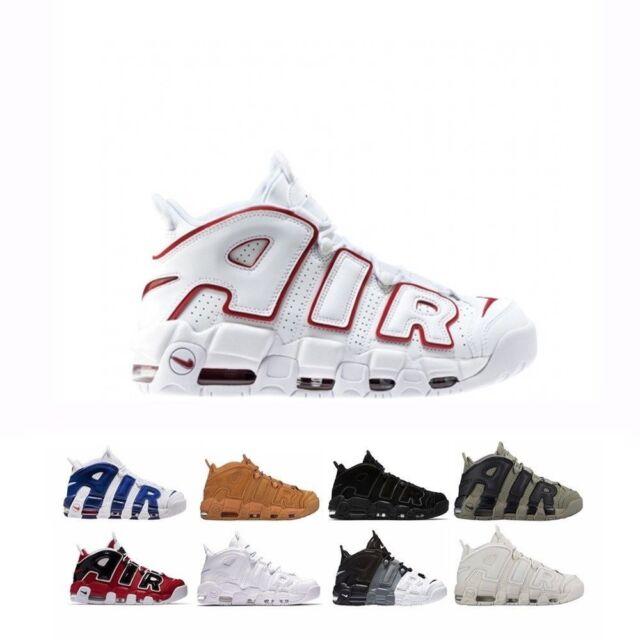 Nike Air More Uptempo Dark Stucco Grade School Kids Sz 5y 415082 007