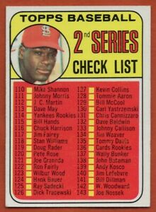1969-Topps-107A-Bob-Gibson-EX-EXMINT-St-Louis-Cardinals-FREE-SHIPPING