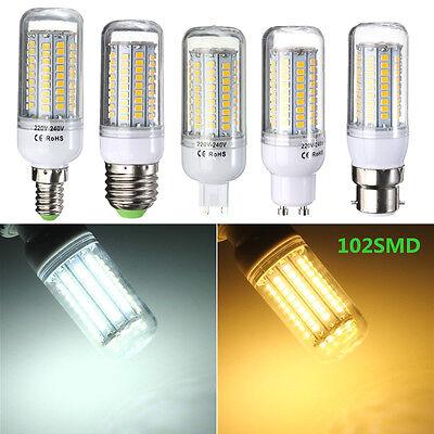 E27/E14/GU10/G9/B22 110/220V 3/5/7/9/15/18/30W 2835-SMD LED Corn Light Lamp Bulb