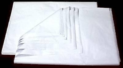 """20/"""" X 15/"""" neuf-livraison gratuite!!! Blanc 960 Feuilles de Papier Tissu"""