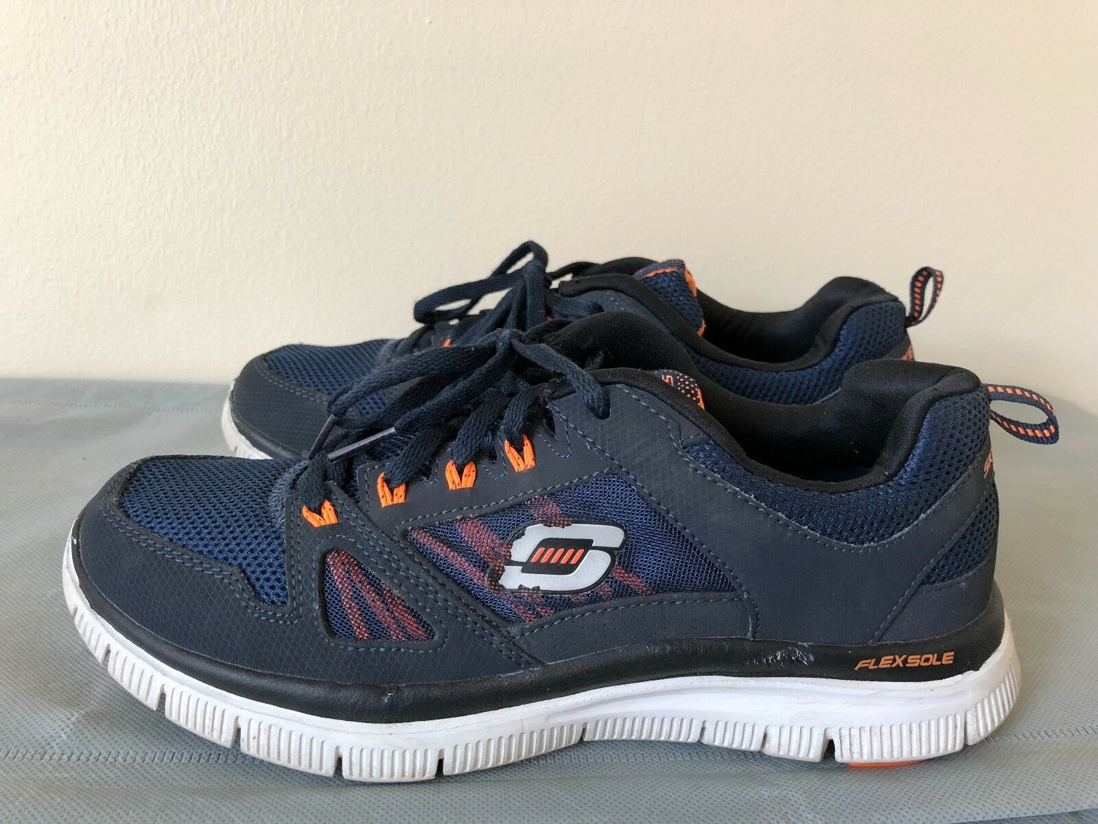 Skechers Men Flex Advantage Trainer Shoes Style 51251 Navy/Orange size US 7 New shoes for men and women, limited time discount