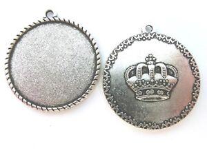 20 Fassungen Rohlinge Krone Rohlinge für 25mm Cabochons #429